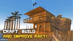 Survival on Raft Crafting in the Ocean mod free Download[Unlimited Weapons] 1