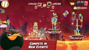 Angry Birds 2 Mod Apk 2.46.0 (Unlimited Gems And Black Pearls) 3
